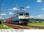 Купить «Japan, Sanyo, Okayama-shi, Hayashima-cho, View of Freight Train.», фото № 16165565, снято 19 марта 2019 г. (c) age Fotostock / Фотобанк Лори