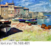Купить «Albert Marquet, Le Port de la Ponche, Saint-Tropez - Fishing Boats at Saint-Tropez Port, 1906, Musee des Beaux-Arts Andre Malraux, Le Havre, Seine-Maritime department, Upper Normandy, France.», фото № 16169401, снято 19 июня 2013 г. (c) age Fotostock / Фотобанк Лори