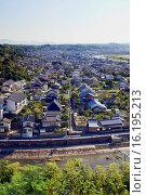 Купить «Japan, Sanyo Region, Okayama Prefecture, Tsuyama-shi, View of Mimasaka city.», фото № 16195213, снято 23 октября 2018 г. (c) age Fotostock / Фотобанк Лори