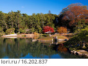 Купить «Japan, Sanyo Region, Okayama Prefecture, Okayama, View of koraku-en garden.», фото № 16202837, снято 19 февраля 2019 г. (c) age Fotostock / Фотобанк Лори