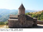 Купить «Монастырь Татев в горах Армении», фото № 16205681, снято 17 августа 2015 г. (c) Денис Козлов / Фотобанк Лори