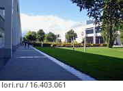 Купить «Выставочный центр Messe Munchen (New Munich Trade Fair Centre) - Мюнхен, Германия», эксклюзивное фото № 16403061, снято 17 сентября 2013 г. (c) Александр Замараев / Фотобанк Лори