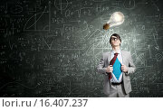 Determined super businessman. Стоковое фото, фотограф Sergey Nivens / Фотобанк Лори