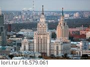 Сталинские высотки (2012 год). Стоковое фото, фотограф Сергей Алимов / Фотобанк Лори