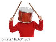 Купить «Child with a drum in the head», фото № 16631869, снято 9 декабря 2007 г. (c) easy Fotostock / Фотобанк Лори