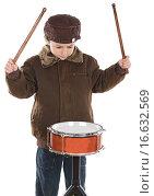 Купить «Child playing the drum», фото № 16632569, снято 9 декабря 2007 г. (c) easy Fotostock / Фотобанк Лори