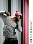 Купить «African american young black man rap dj», фото № 16663537, снято 22 сентября 2019 г. (c) easy Fotostock / Фотобанк Лори