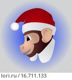 Купить «Новогодняя милая обезьянка», иллюстрация № 16711133 (c) Евгений Бондарев / Фотобанк Лори