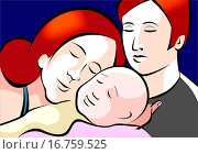 Купить «Illustration of father and mother», фото № 16759525, снято 16 ноября 2019 г. (c) easy Fotostock / Фотобанк Лори