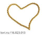 Купить «Heart from golden thread», фото № 16823013, снято 19 августа 2018 г. (c) easy Fotostock / Фотобанк Лори