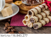 Купить «Biscuits on table», фото № 16843277, снято 18 ноября 2014 г. (c) Sergey Nivens / Фотобанк Лори