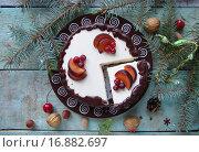 Торт с шоколадом и фруктами. Стоковое фото, фотограф Наталья Майорова / Фотобанк Лори