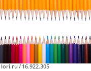 Заточенные простые и цветные карандаши. Стоковое фото, фотограф Кирилл Пономарёв / Фотобанк Лори