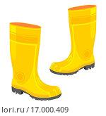 Купить «illustration of isolated rubber boots», фото № 17000409, снято 24 января 2019 г. (c) easy Fotostock / Фотобанк Лори