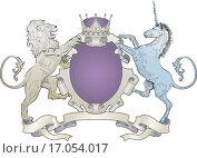Купить «shield coat of arms lion, unicorn, crown», фото № 17054017, снято 20 января 2018 г. (c) easy Fotostock / Фотобанк Лори