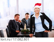 Купить «Businesswoman in Santa Claus hat», фото № 17082801, снято 29 февраля 2020 г. (c) easy Fotostock / Фотобанк Лори