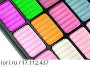 Купить «Part of the colorful palette for makeup closeup», фото № 17112437, снято 18 февраля 2020 г. (c) easy Fotostock / Фотобанк Лори