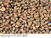 Купить «Поленница из березовых дров», фото № 17157433, снято 28 мая 2012 г. (c) Евгений Суворов / Фотобанк Лори