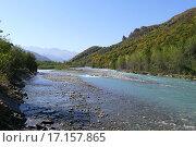 Река на Северном Кавказе. Стоковое фото, фотограф Оксана Якупова / Фотобанк Лори