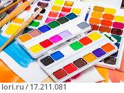 Купить «Новые акварельные краски», фото № 17211081, снято 4 декабря 2015 г. (c) Алёшина Оксана / Фотобанк Лори