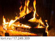 Купить «close up of firewood burning in fireplace», фото № 17249309, снято 16 октября 2015 г. (c) Syda Productions / Фотобанк Лори