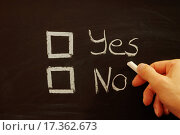 Купить «vote yes or no», фото № 17362673, снято 25 января 2020 г. (c) easy Fotostock / Фотобанк Лори