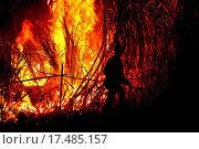 Купить «Big fire on the farmland», фото № 17485157, снято 17 августа 2019 г. (c) easy Fotostock / Фотобанк Лори
