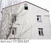 Фрагмент старого заброшенного жилого дома (2015 год). Стоковое фото, фотограф Алёшина Оксана / Фотобанк Лори