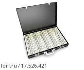 Купить «A briefcase full of Cash.», фото № 17526421, снято 22 февраля 2019 г. (c) PantherMedia / Фотобанк Лори