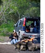 Купить «Woman and Bonfire», фото № 17556509, снято 23 января 2019 г. (c) easy Fotostock / Фотобанк Лори