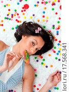 Купить «Lollipop girl», фото № 17568341, снято 21 августа 2018 г. (c) easy Fotostock / Фотобанк Лори