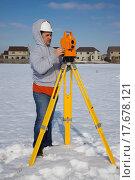 Купить «Winter time surveying», фото № 17678121, снято 22 апреля 2018 г. (c) easy Fotostock / Фотобанк Лори