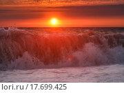 Закат на море. Стоковое фото, фотограф Эвелина Рязанова / Фотобанк Лори