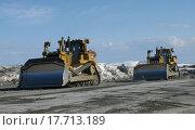 Катерпиллер в Хибинах (2013 год). Редакционное фото, фотограф Андрей Усачев / Фотобанк Лори