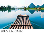 Купить «Bamboo rafting in Li River», фото № 17775821, снято 21 августа 2018 г. (c) easy Fotostock / Фотобанк Лори