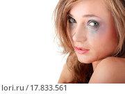 Купить «Woman in underwear crying _ violence concept», фото № 17833561, снято 22 июля 2019 г. (c) easy Fotostock / Фотобанк Лори