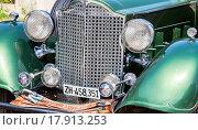 Купить «The front part of a retro car Packard Convertible Sedan 1934 year», фото № 17913253, снято 22 октября 2018 г. (c) FotograFF / Фотобанк Лори