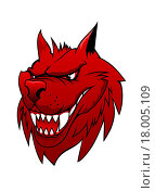 Купить «Wild danger red wolf in cartoon style isolated on white», иллюстрация № 18005109 (c) easy Fotostock / Фотобанк Лори