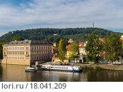 Вид реки Влтава в Праге (2015 год). Стоковое фото, фотограф Dmitrii Shafranskii / Фотобанк Лори