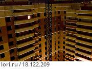 Строительство многоквартирного жилого дома. Стоковое фото, фотограф Александр Замоткин / Фотобанк Лори