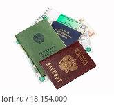 Купить «Российские и советские документы», фото № 18154009, снято 25 октября 2015 г. (c) Алёшина Оксана / Фотобанк Лори