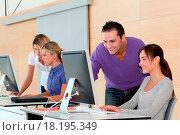 Купить «Office workers on business training», фото № 18195349, снято 17 ноября 2018 г. (c) easy Fotostock / Фотобанк Лори