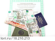 Купить «Документы и деньги», фото № 18210213, снято 25 октября 2015 г. (c) Алёшина Оксана / Фотобанк Лори