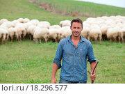 Купить «Shepherd in field», фото № 18296577, снято 24 января 2019 г. (c) easy Fotostock / Фотобанк Лори