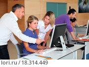 Купить «Office workers on business training», фото № 18314449, снято 17 ноября 2018 г. (c) easy Fotostock / Фотобанк Лори