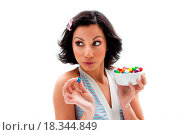 Купить «Happy candy girl», фото № 18344849, снято 21 августа 2018 г. (c) easy Fotostock / Фотобанк Лори