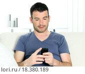 Купить «cellphone man», фото № 18380189, снято 19 ноября 2019 г. (c) easy Fotostock / Фотобанк Лори