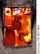 Купить «Fire in an abandoned house», фото № 18387461, снято 31 мая 2020 г. (c) easy Fotostock / Фотобанк Лори