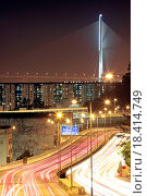 Купить «traffic through downtown at night», фото № 18414749, снято 18 января 2019 г. (c) easy Fotostock / Фотобанк Лори