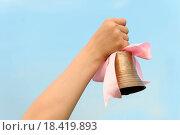 Купить «The hand with a bell», фото № 18419893, снято 4 июня 2020 г. (c) easy Fotostock / Фотобанк Лори